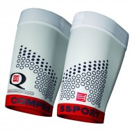 Manchon de cuisse Q trail running Compressport Blanc