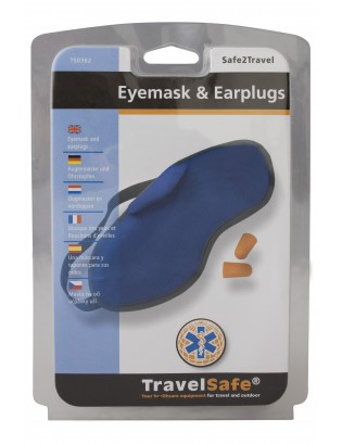 Eye mask fleece+ear plugs - Masque yeux + bouchons oreille TravelSafe