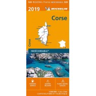Carte 528 Régionale - Corse 2019 - indéchirable Michelin