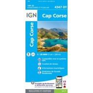 Cap Corse 4347OT - Carte Top 25 - IGN