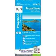 Propriano Golfe du Valinco 4154OT - Carte Top 25 - IGN