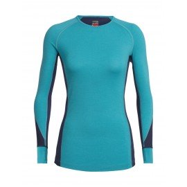 BodyfitZone™ 260 Zone Long Sleeve Crewe Femme Icebreaker Arctic Teal Heather